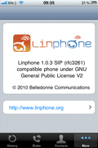 Linphone About