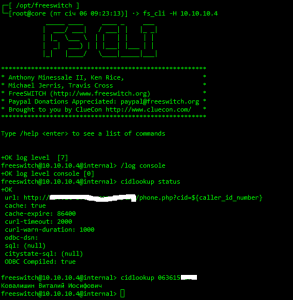 FS достает Caller Name из базы Terrasoft по CallerID